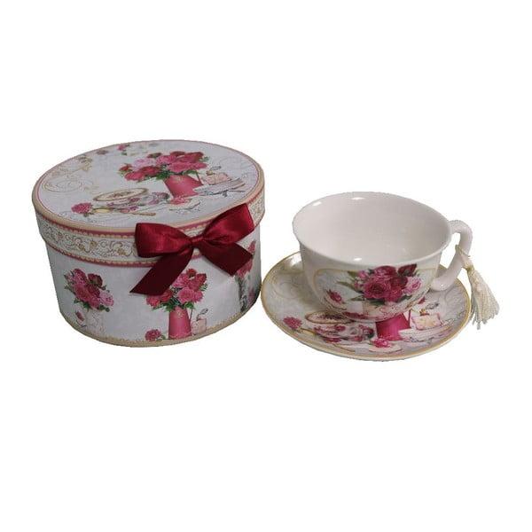 Hrnček s tanierikom v škatuli Antic Line Romantic