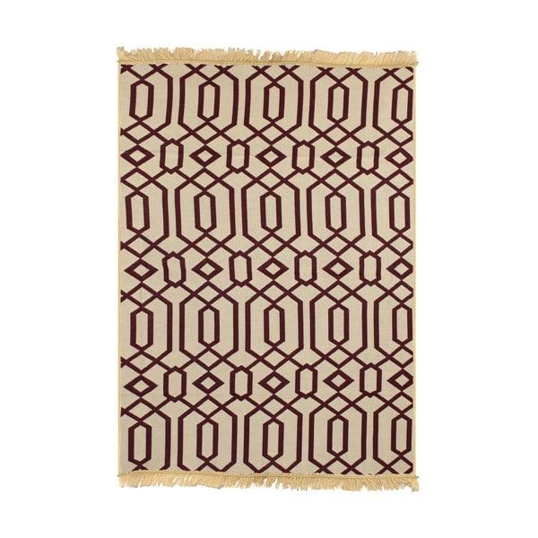 Béžovo-vínový koberec Ya Rugs Kenar, 80x150cm