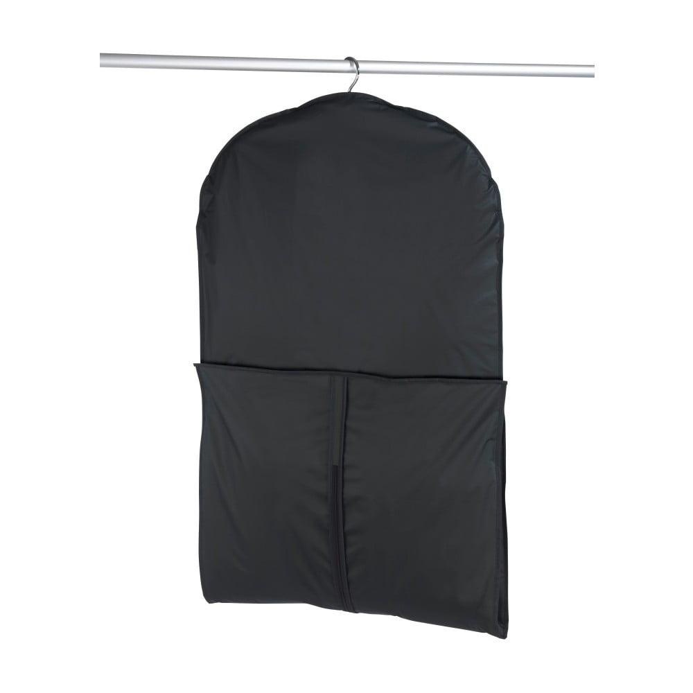 Čierny obal na oblek Wenko, 150 × 60 cm