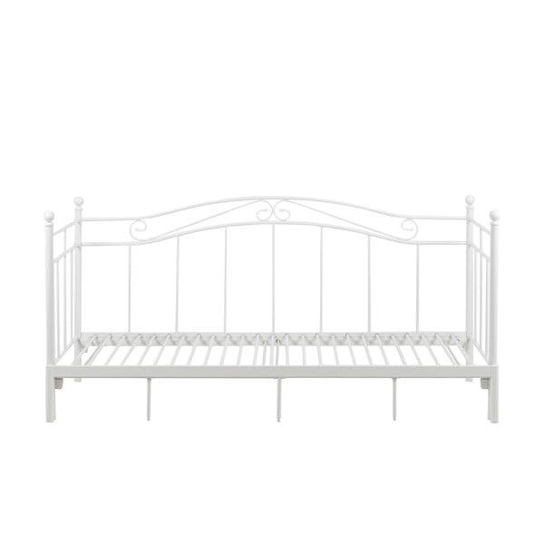 Biela rozkladacia posteľ Actona Bavo, 80 -160 x 200 cm