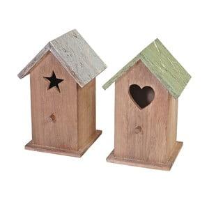 Sada 2 dekoratívnych vtáčích búdok Mendler Shabby Celje