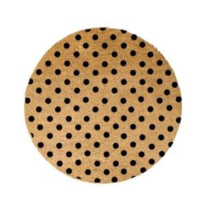 Guľatá rohožka Artsy Doormats Dots, ⌀ 70 cm