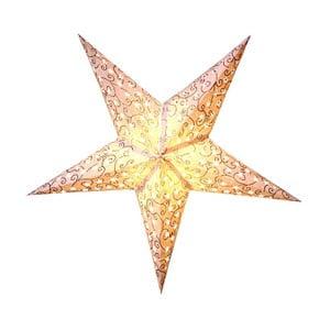 Závesná svietiaca hviezda Best Season Five Snow Silver