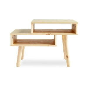 Konferenčný stolík z borovicového dreva v prírodnej farbe Karup Haku