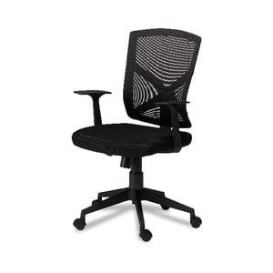 Čierna kancelárska stolička Furnhouse Swivel