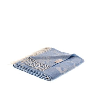 Vlnená prikrývka Danimarca 130x180 cm, modrá