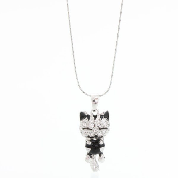 Náhrdelník so Swarovski Elements Laura Bruni Black Cat