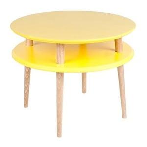 Žltý konferenčný stolík Ragaba UFO, ⌀ 57 cm