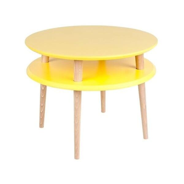 Žltý konferenčný stolík Ragaba UFO,Ø57cm
