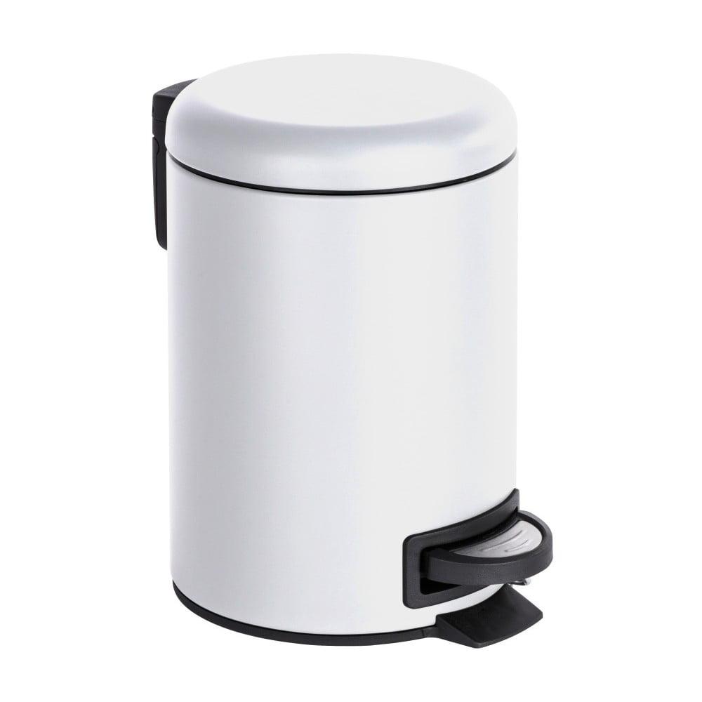 Biely odpadkový kôš Wenko Leman, 3 l