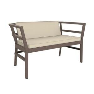 Čokoládovohnedé záhradné sofa Resol Click-Clack