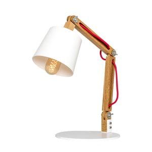 Stojacia lampa s drevenou konštrukciou Salome