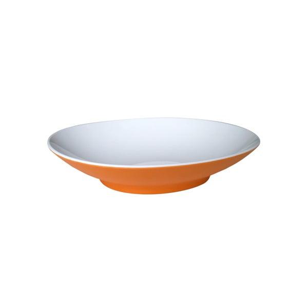 Oranžový polievkový tanier Entity, 22,2cm