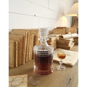 Brúsená fľaša na whisky Fine, 25,5 cm