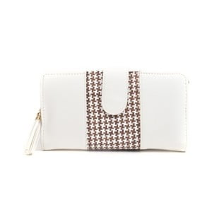 Biela peňaženka s hnedým detailom Mangotti Bags Ophelia