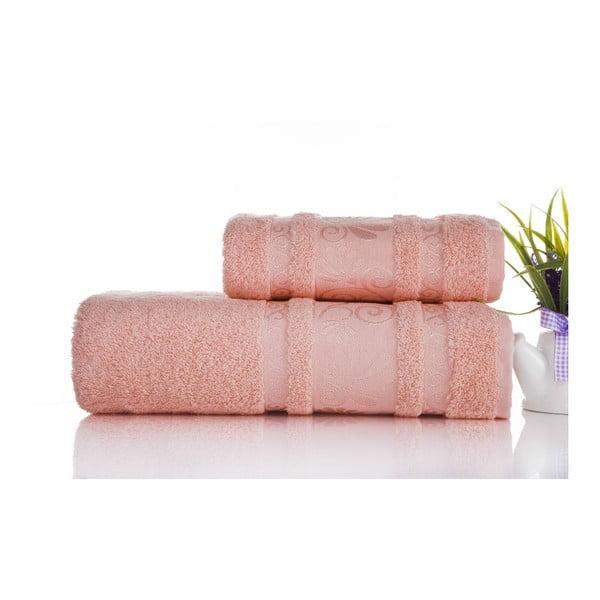 Sada uteráka a osušky Carmen Coral, 50x90 a 70x140 cm
