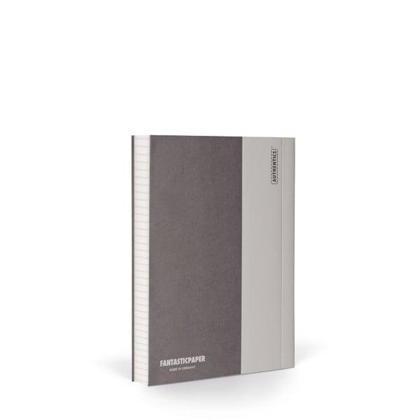 Zápisník FANTASTICPAPER A6 Stone/Warm Grey, štvorčekový
