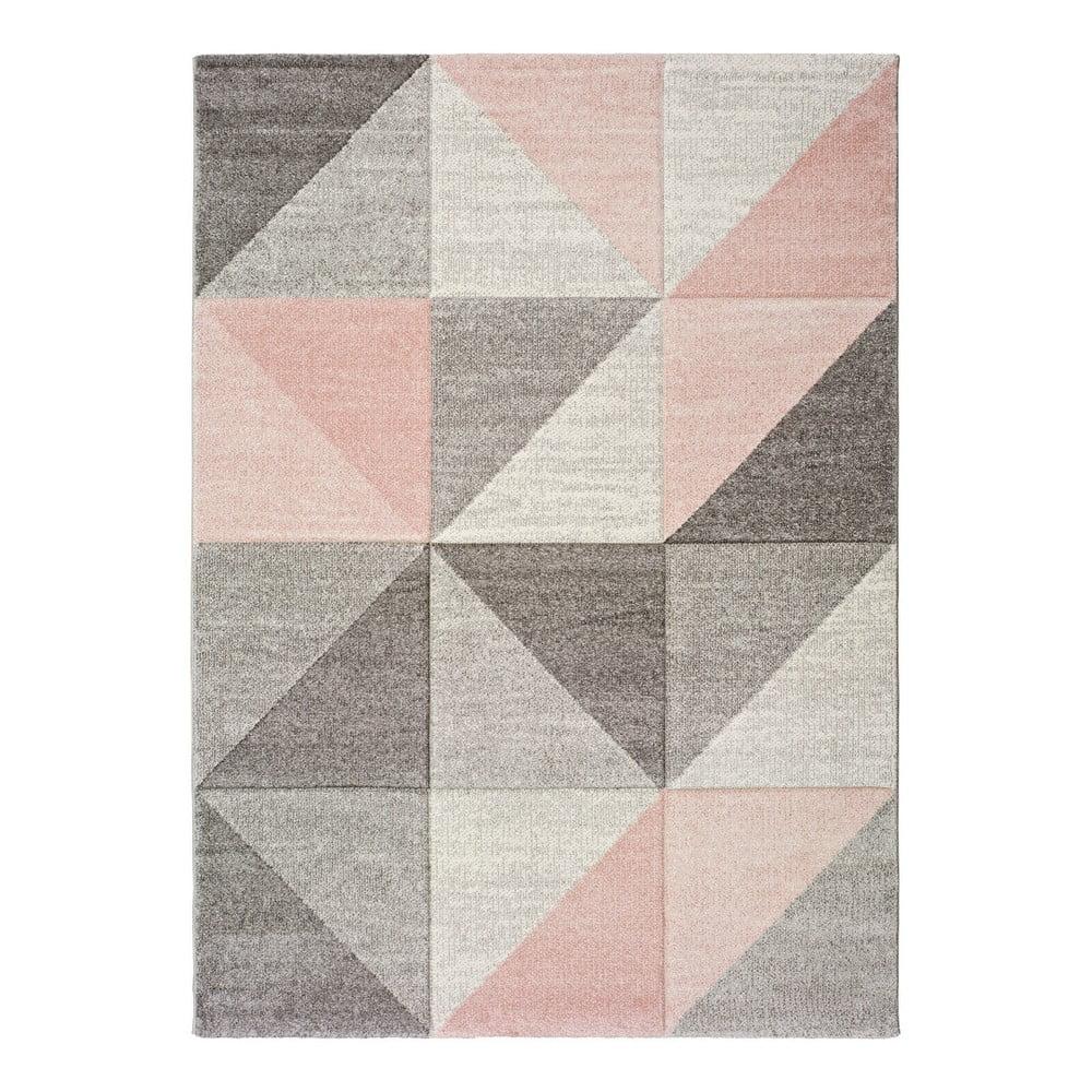 Ružovo-sivý koberec Universal Retudo Naia, 60 × 120 cm