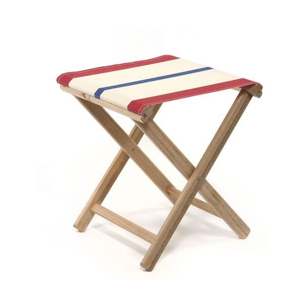 Skladacia stolička Beach, modro-červené proužky