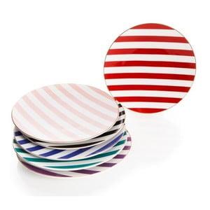Sada 6 sklenených tanierikov s farebnými motívmi Weisenberg, 200 ml