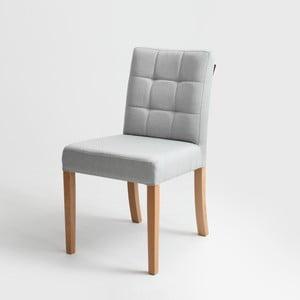 Sivá stolička s prírodnými nohami Custom Form Wilton