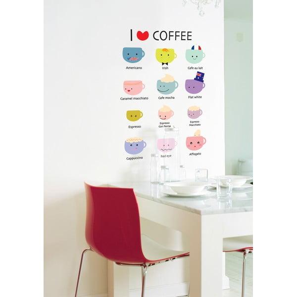 Sada samolepiek I Love Coffee