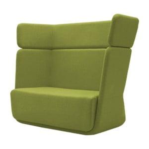 Zelené kreslo Softline Basket Felt Melange Lime