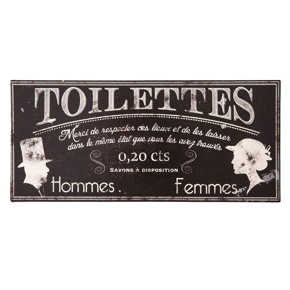Kovová ceduľa na toaletu Antic Line Toilettes
