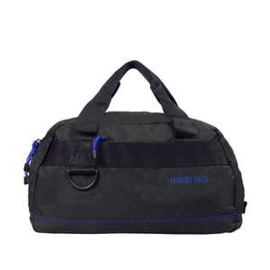 Čierna taška s modrými detailmi Blue Star Edimbourg, 17 litrov