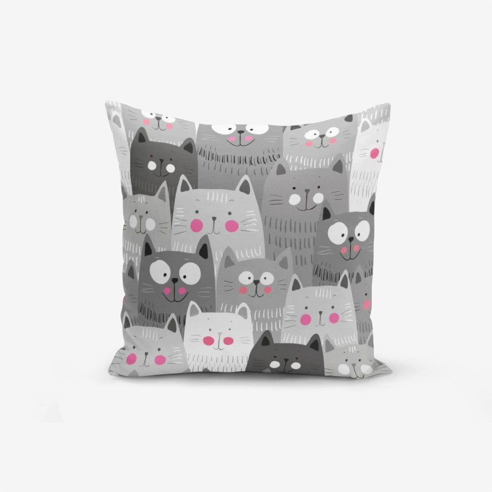 Obliečka na vankúš s prímesou bavlny Minimalist Cushion Covers Catty, 45 × 45 cm