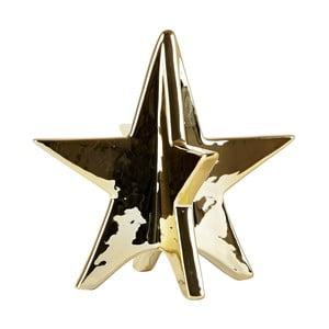 Dekoratívna hviezda KJ Collection Ceramic Gold, 13 cm