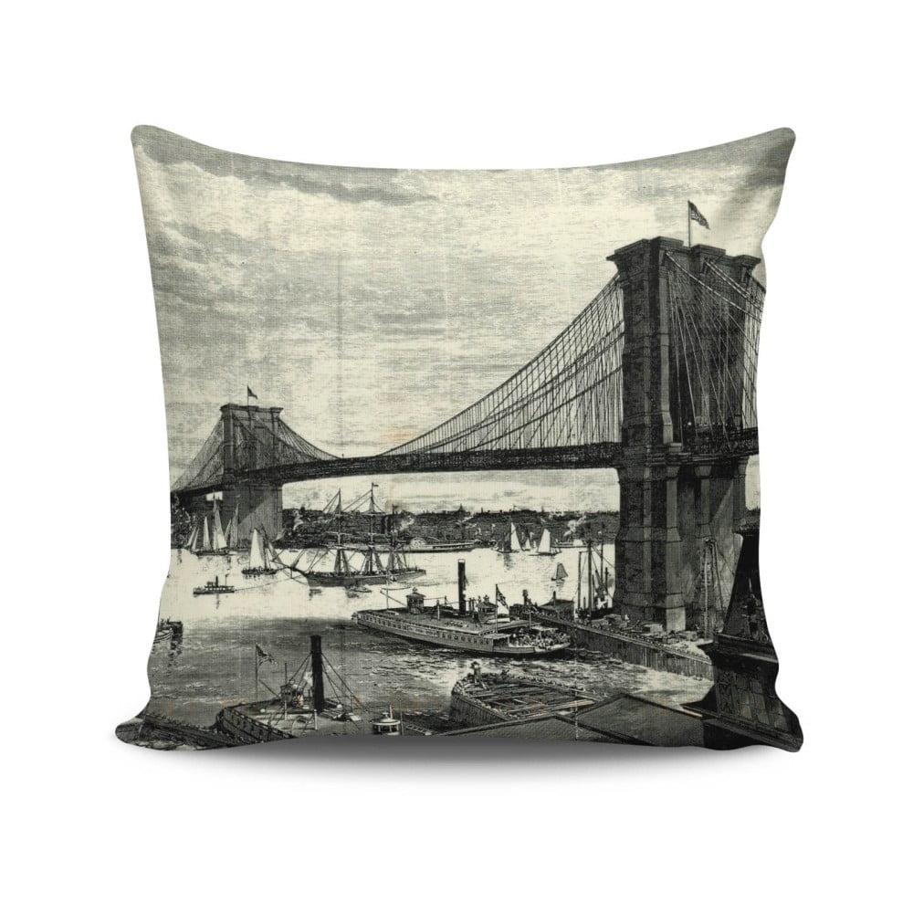 Obojstranná obliečka na vankúš Bridge, 45 × 45 cm