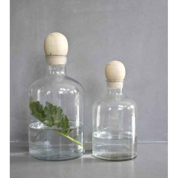 Sklenená fľaša s drevenou zátkou ComingB Stories