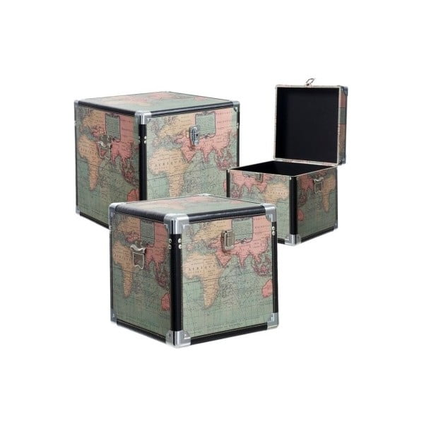 Sada 3 boxov Cosas de Casa Mapa sveta