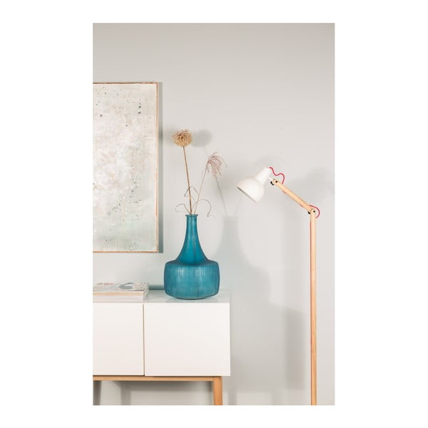 Biela stojacia lampa Zuiver Study