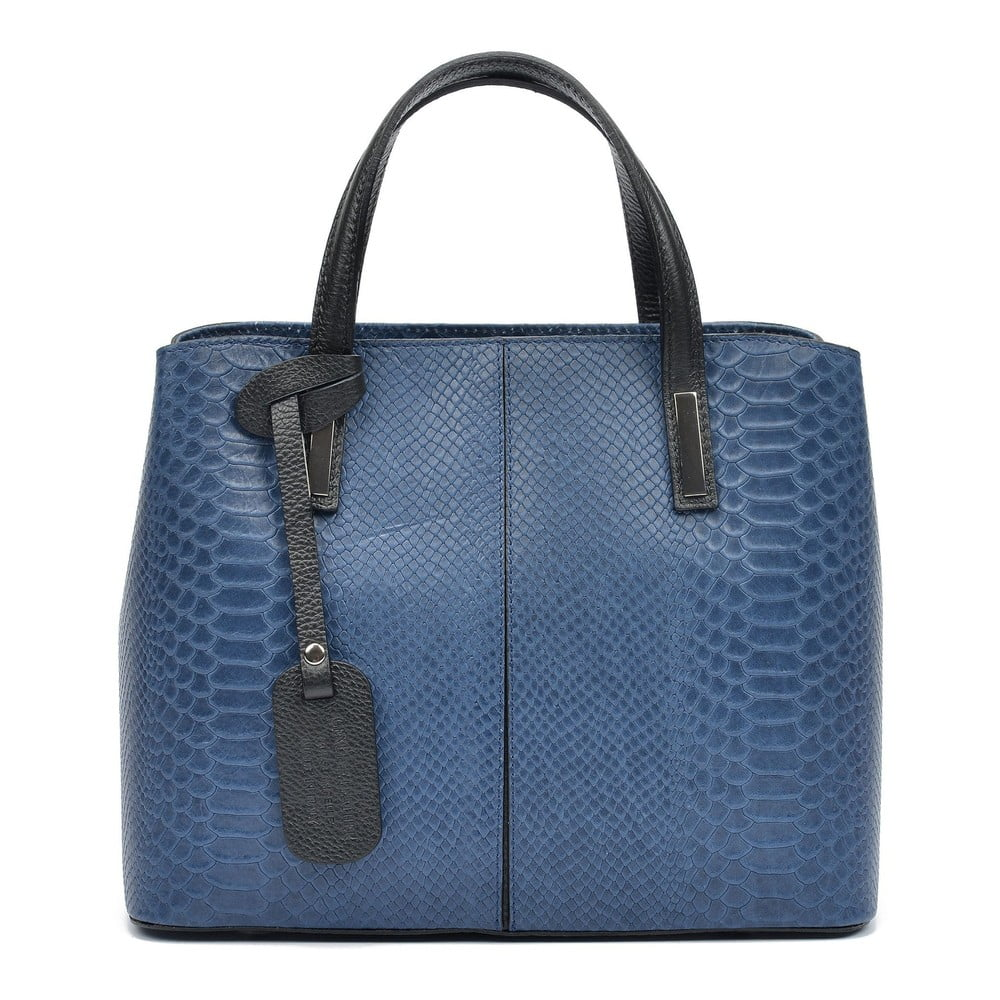 Modrá kožená kabelka Roberta M Mattia
