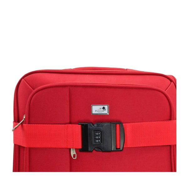 Červený zámok na kufor PotironParisAccess