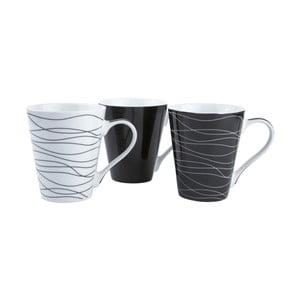 Sada 3 porcelánových hrnčekov KJ Collection Home, 300ml