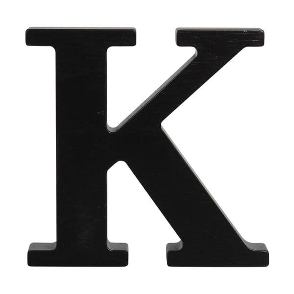 Čierne drevené písmeno Typoland K