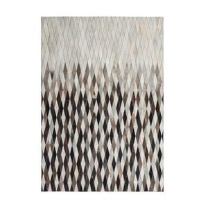 Kožený koberec Eclipse 120x170 cm, hnedý
