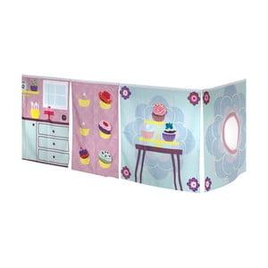 Záves pod detskú posteľ Manis-h Cup Cake Girl