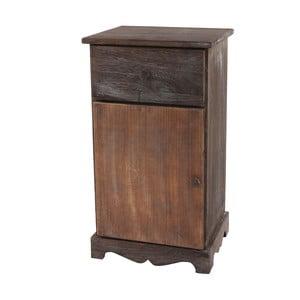 Hnedý nočný stolík Mendler Shabby