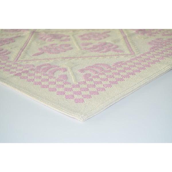 Staroružový odolný koberec Vitaus Lulu, 80x200cm