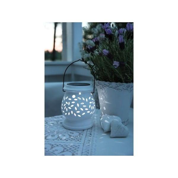 Biely LED lampáš Best Season Clay
