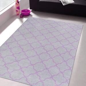 Vysokoodolný kuchynský koberec Trellis Silver, 80x130 cm