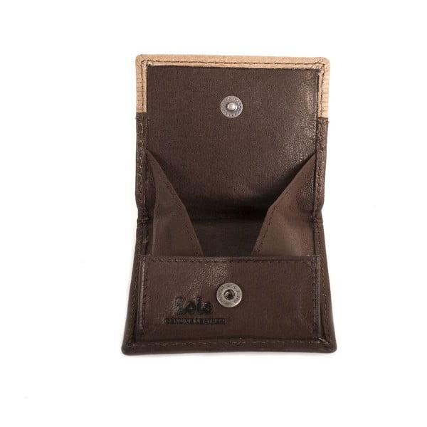 Kožená peňaženka na drobné Lois Brown, 8x7 cm