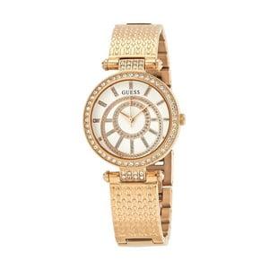 Dámske hodinky v ružovozlatej farbe s antikoro remienkom Guess W1008L3