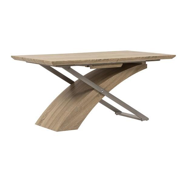 Rozkladací jedálenský stôl Level, 160-200 cm, dub