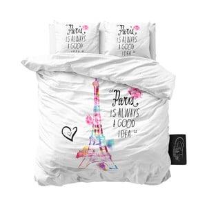 Biele obliečky z mikroperkálu Sleeptime Paris, 200 x 220 cm