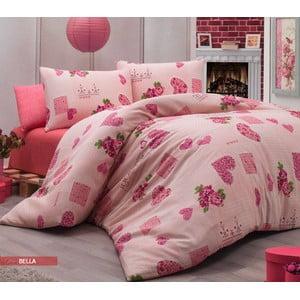 Obliečky s plachtou Bella Pink, 200x220 cm